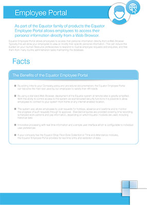 Click here to download our employee portal factsheet