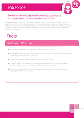Click here to download our personnel factsheet