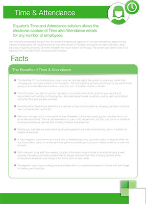 Click here to download our time and attendance factsheet
